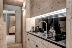 Küchenbereich Apartment Hochgall (Alpengasthof Zollwirt)