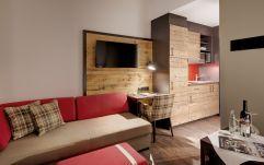 Kuscheliger Wohnbereich in den Appartements (c) Thomas Haberland (Hotel Traumschmiede und Gasthof zur alten Schmiede)