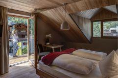 Lenkstein Doppelzimmer mit Balkon im Sommer (Alpengasthof Zollwirt)