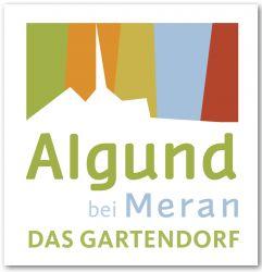 Logo  Algund bei Meran Das Gartendorf