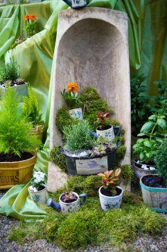 Marktstand mit Pflanzen und Steinen als Dekoration (Sárvár Tourist & TDM Nonprofit Kft.)