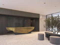 Moderne Lobby mit Rezeption (Goldenes Schiff)