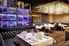 Modernes Ambiente im Gourmetrestaurant (c) Michael Huber (Wellnessresort Amonti & Lunaris)