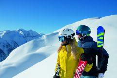 Pärchen beim Skifahrn in Rauris (c) Michael Gruber (Tourismusverband Rauris)