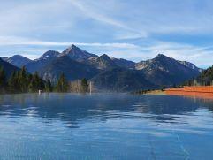 Panorama-Ausblick vom Outdoorpool (Hotel Bergblick)
