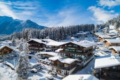 Panoramaansicht im Winter (c) David Innerhofer (Wanderhotel Gassner)