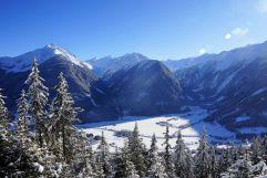 Panoramaausblick im Winter von der Steineralm (Wanderhotel Gassner)