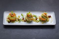 Pasta Tricolore Türmchen beim Basenfasten nach Wacker (Hotel Asam)