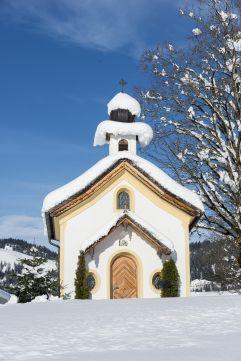 Peternhof-Kapelle im Winter (Hotel Peternhof)
