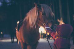 Ponnyreiten bei der Waldweihnacht (c) Manuel Kottersteger (Tourismusverein Ahrntal)