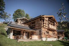 Premium Almchalet mit Sonnenterrasse eingebettet in die alpine Landschaft (Bergdorf Prechtlgut)