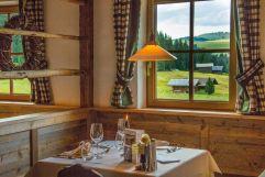 Restaurant mit Bergblick (Tirler-Dolomites Living Hotel)