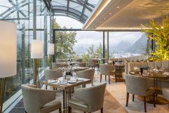 Restaurant The Glass Garden mit schöner Aussicht (Schloss Mönchstein)