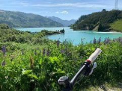Royal Biken in der Silvretta-Arena Ischgl mit Blick auf den Zeinisssee(Gourmet & Relax Resort Trofana Royal SUPERIOR)