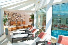 Ruhebereich des Hotel Alpina