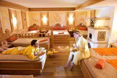 Ruheraum mit Wasserbetten im Hotel Alpina