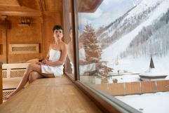 Sauna des Klausnerhof mit Ausblick