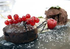 Schokoerdbeeren Dessert (Hotel Asam)