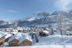Ski-In und Ski-Out vor dem Gorfion (Hotel Gorfion Familotel)
