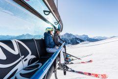 Skifahrer in der Gondel (c) wisthaler.com (Olang)
