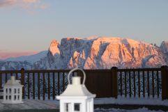 Sonnenuntergang im Winter (Hotel Tann)