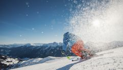 Spektakuläre Landschaft beim Skifahren genießen (Schwemmalm Ulten)