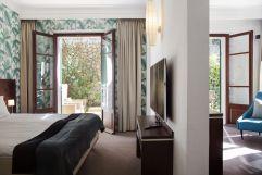Stilvoll eingerichtetes Doppelbettzimmer mit Balkon (c) Johanna Gunnberg (Hotel Espléndido)