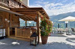 Terrasse im Sommer (Hotel Waldfriede)