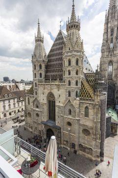 Terrasse mit Domblick (Hotel am Stephansplatz)