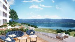 Terrasse mit Seeblick im Alpe Maritima Ossiacher See (Alps Residence)