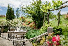 Terrassse im Garten des Ratscher Landhauses (c) Karin Bergmann (Ratscher Landhaus)