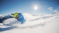 Traumhafte Landschaft beim Skifahren genießen (Schwemmalm Ulten)
