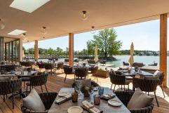 Traumhafte Sonnenterasse im Restaurant (VILA VITA Pannonia Pamhagen)