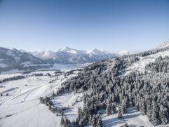 Verschneite Winterlandschaft (Hotel Bergblick)