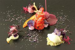 Violetter Hummer von Haubenkoch Martin Sieberer im Hotel Trofana Royal