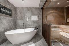Wellness-Genuss im Badezimmer der neuen Mountain Suites im Hochfirst (c) Stephanie Maria Lohmann (Alpen-Wellness Resort Hochfirst)