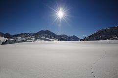 Winterlandschaft mit Sonne (VALLUGA Hotel)