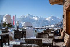 Winterliche Terrasse (Hotel Bergblick)