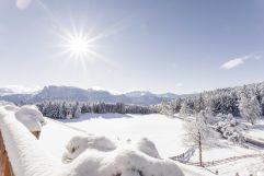 Winterpanorama vom Balkon (Hotel Tann)