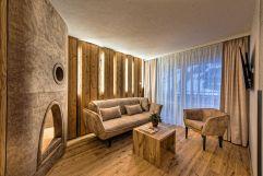Wohnbereich der Familiensuite (Oberjoch - Familux Resort)