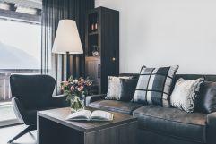 gemütliche Sitzecke in der Suite des Hotel Golserhof